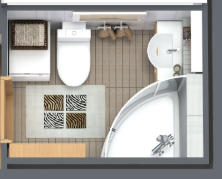 Grundriss Bad mit Dusche