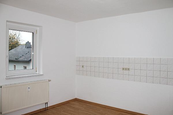 Küche mit Fliesenspiegel