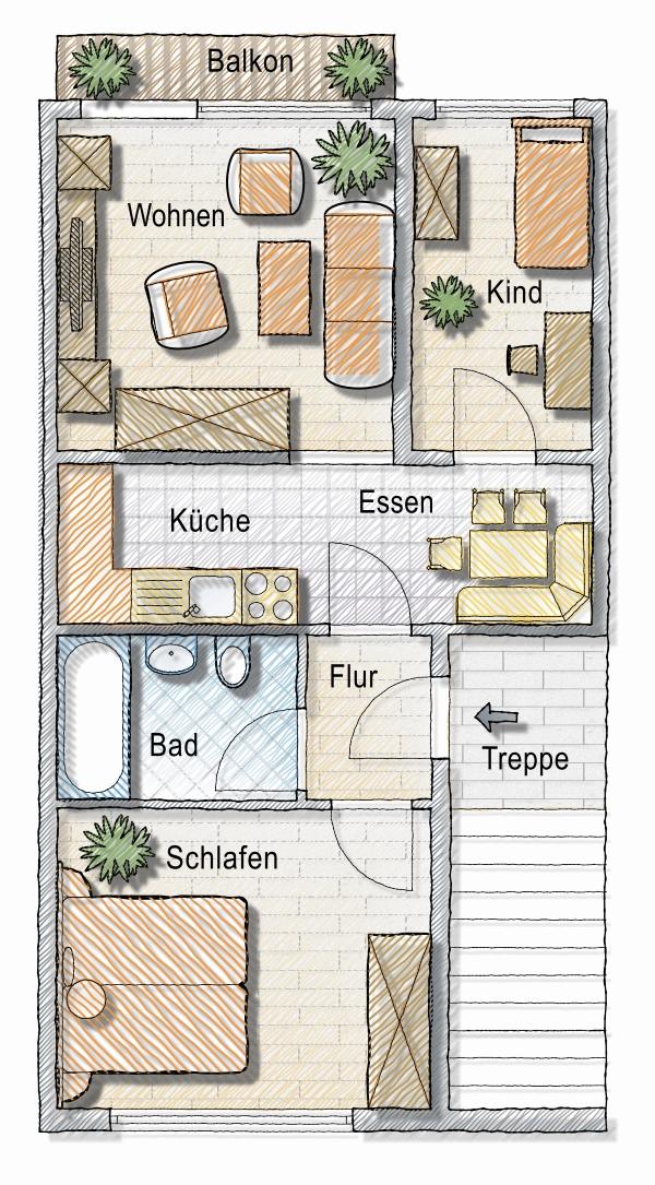Skizze Neubau